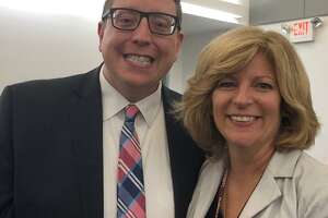 Matt Correia, the new principal at Newtown's Reed Intermediate School, and Anne Uberti, the recently appointed assistant superintendent for Newtown schools.
