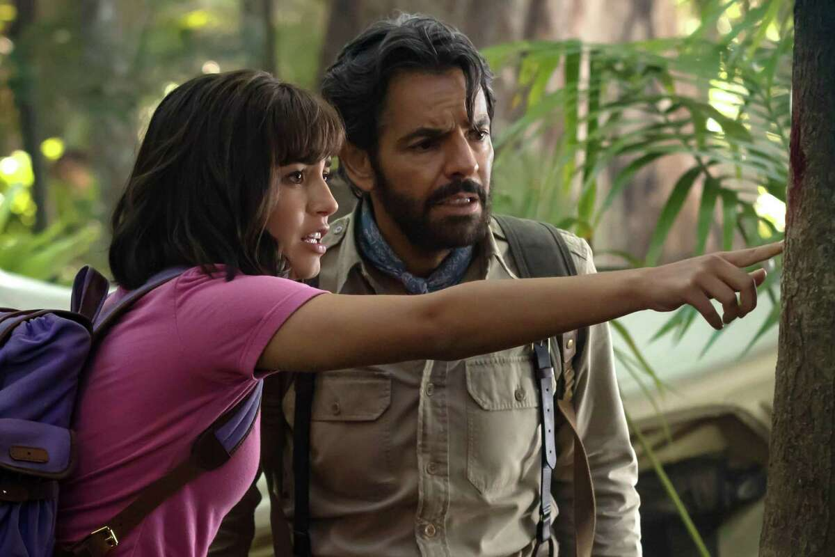 """Isabela Moner and Eugenio Derbez star in """"Dora and the Lost City of Gold.'"""" Derbez also is an executive producer of the film."""