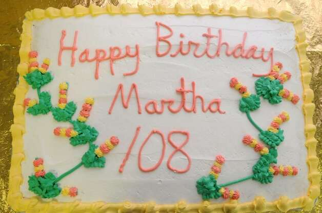 This Is The Birthday Cake Set Out At Maplewood Manor In Ballston Spa For Martha Waits
