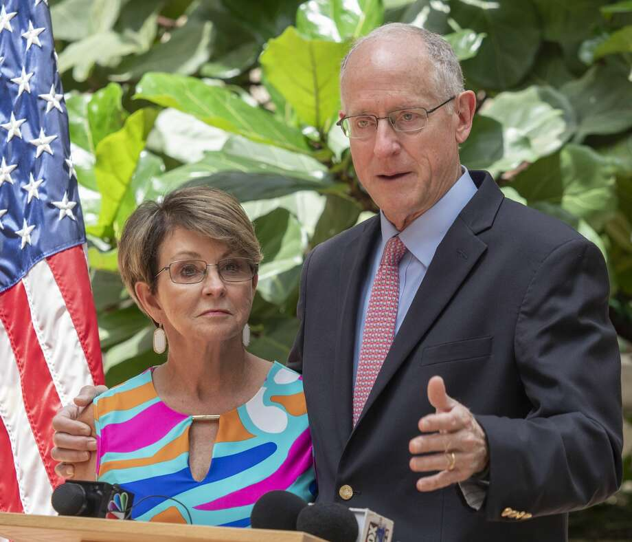 U.S. Rep Mike Conaway and his wife Suzanne announce 07/31/19 he will not seek re-election during a press conference in ClayDesta. Tim Fischer/Reporter-Telegram Photo: Tim Fischer/Midland Reporter-Telegram