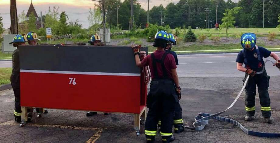 The Monroe Volunteer Fire Department has added six junior firefighters to its mix. Photo: Monroe Volunteer Fire Department Facebook Page / Contributed