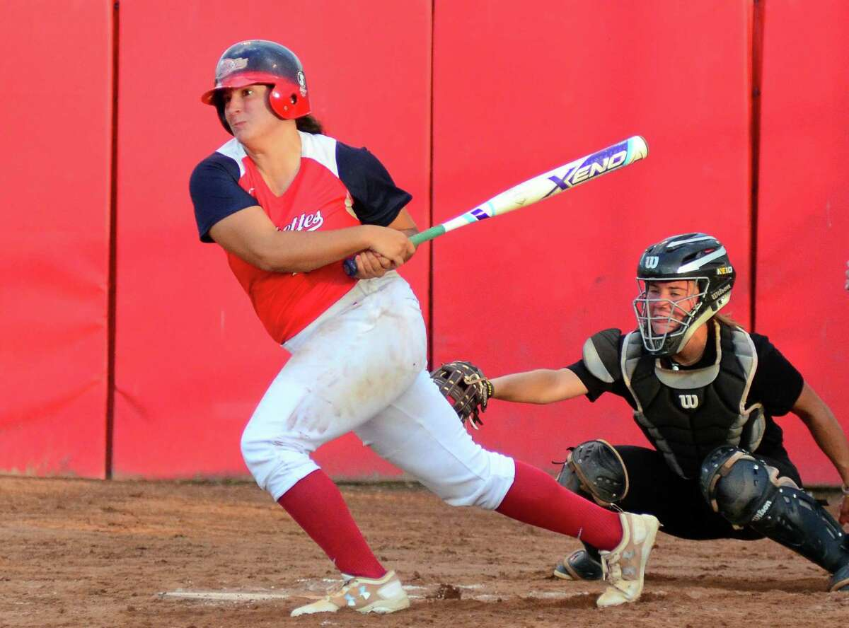 The Brakette's Lauren Pitney, a foemr star at St. Joseph, is hitting .522 with eight home runs this season.