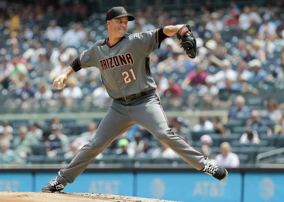 PHOTOS: Ranking all of Jeff Luhnow's trades with the Astros  Arizona Diamondbacks' Zack Greinke delivers a pitch during the first inning of a baseball game against the New York Yankees Wednesday, July 31, 2019, in New York. (AP Photo/Frank Franklin II)  >>>Here's a breakdown of every trade Jeff Luhnow has made as general manager of the Astros ...  Photo: Frank Franklin II, Associated Press / Copyright 2019 The Associated Press. All rights reserved.