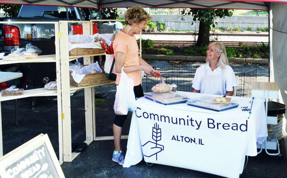 Sarah Olson, founder of Community Bread, at the Alton Farmers' & Artisans' Market. Photo: For The Telegraph