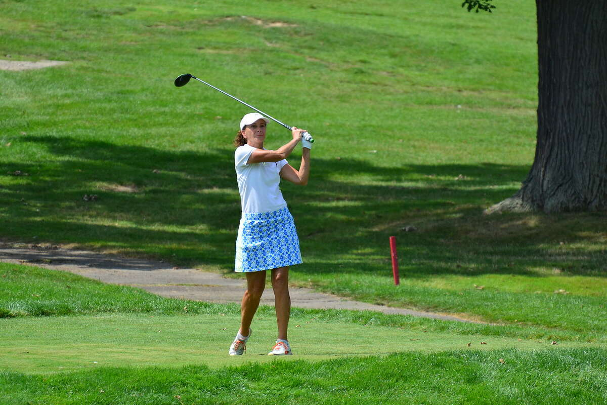 Mary Jo Kelly, left, of the Wolferts Roost Country Club finished second Tuesday, Aug. 15, 2017, in the State Women's Senior Amateur at the Corning Country Club.