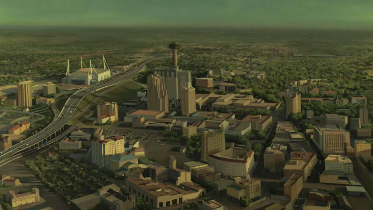 """San Antonio as depicted in """"Undone,"""" a moving and trippy animated series from Kate Purdy."""
