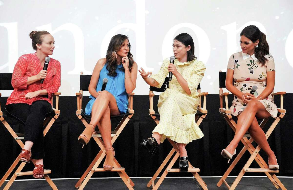 'Undone's' creator/producer Kate Purdy of San Antonio and series actors Constance Marie, Rosa Salazar and Angelique Cabral answer questions from TV critics following a screening of the Amazon Prime show bowing Sept. 13.