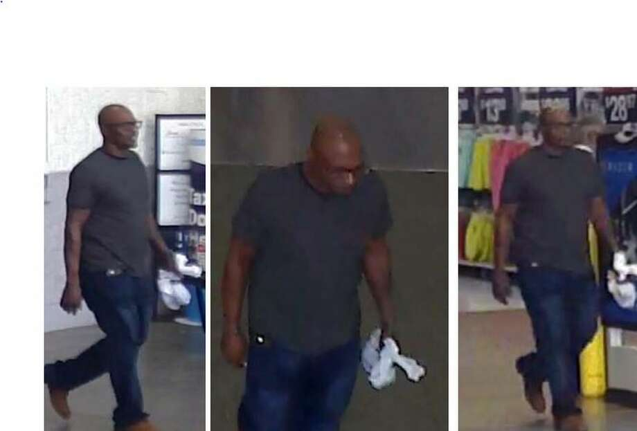 A man is seen in surveillance footage after allegedly stealing a company credit card at a Spring Walmart and going on a shopping spree. Photo: Courtesy Of The Montgomery County Sheriff's Office