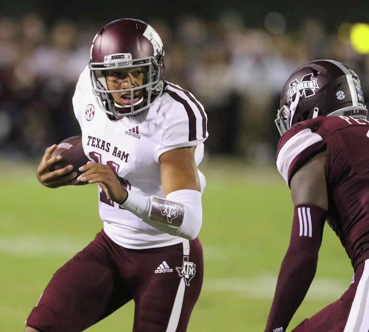 Texas A&M quarterback Kellen Mond opens his junior year as the team's unquestioned leader after beating out Nick Starkel to be the starter last year. He's also on a mission to improve upon his 57.3 percent completion rate from 2018.