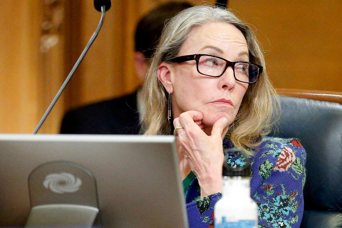 Supervisor Vallie Brown during a board meeting at City Hall on Tuesday, June 4, 2019, in San Francisco, Calif. The Board of Supervisors voted to shut down juvenile hall by the end of 2021.
