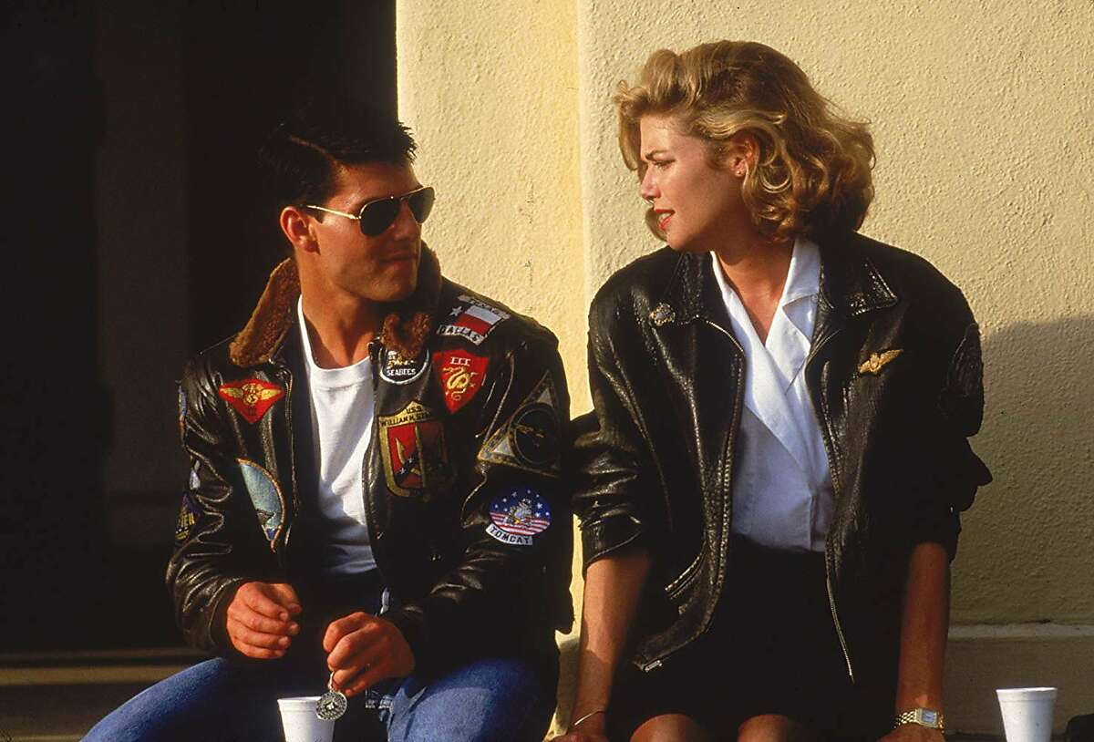 """Tom Cruise and Kelly McGillis appear in """"Top Gun."""""""