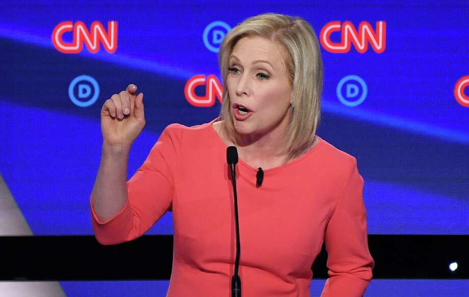 The White House ambitions of Sen. Kirsten Gillibrand were dealt a setback Wednesday, as she appears likely to be shut out from the third round of Democratic presidential debates. (Photo by Jim WATSON / AFP)JIM WATSON/AFP/Getty Images Photo: JIM WATSON, Getty / AFP