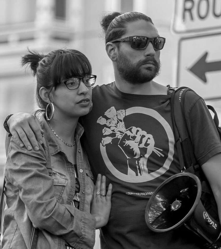 Gloria Martinez and Bryan MacCormack, co-founders of the immigrant rights non-profit organization Columbia County Sanctuary Movement, pose in an undated photo.