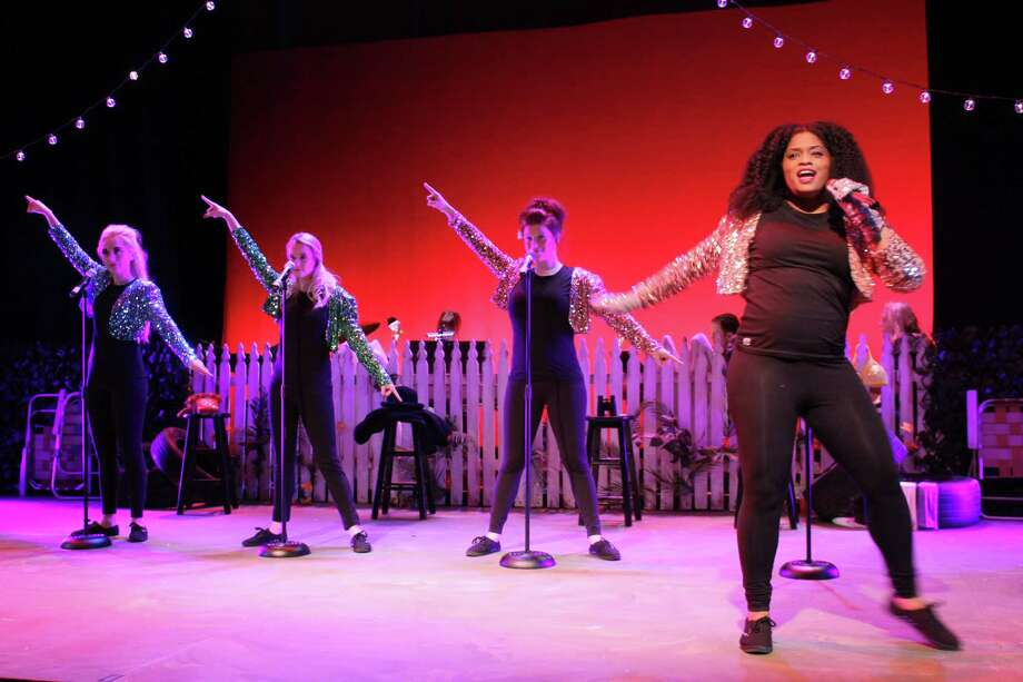"The Bikinis,"" a musical beach party featuring classic tunes from the 1960s, is at Seven Angels Theatre in Waterbury Aug. 9-18. Photo: Seven Angels Theatre / Contributed Photo"
