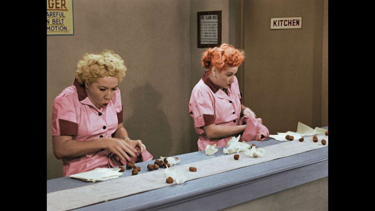 """Vivian Vance and Lucille Ball in a classic episode of """"I Love Lucy."""""""