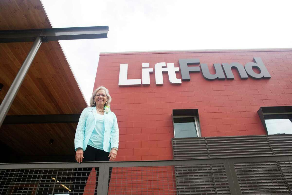 CEO and President Janie Barrera is pictured in front of the LiftFund building in 2015.