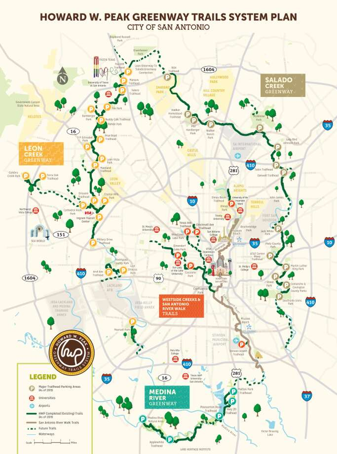 san antonio bike trails map Parks And Recreation Expands Greenway Trail System San Antonio san antonio bike trails map