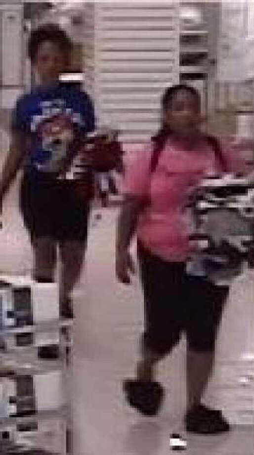 Crime Stoppers and the San Antonio police are searching for three people they accuse of stealing clothes from a department store and biting two employees who tried to stop it. Photo: Crime Stoppers