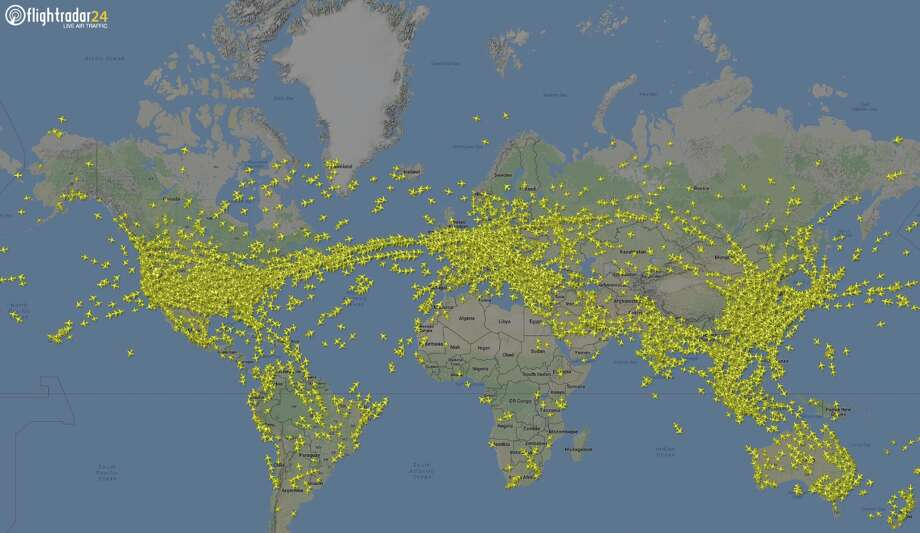July 25 was the busiest day for airlines so far this year, according to FlightRadar24.com Photo: Courtesy FlightRadar24.com