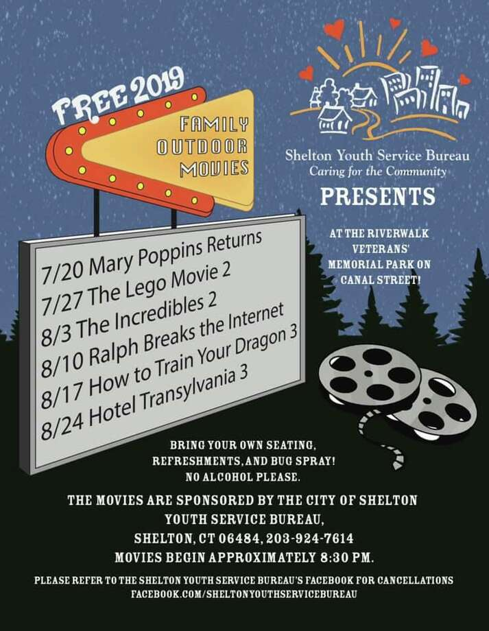 Shelton Youth Services Bureau is sponsoring the outdoor movie series. Photo: Contributed Photos / Connecticut Post