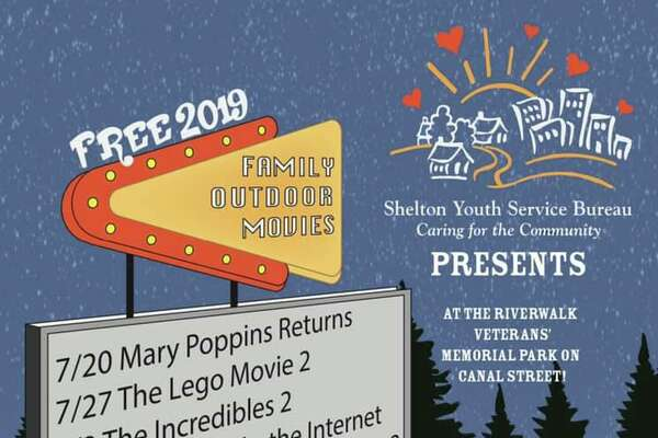 Shelton Youth Services Bureau is sponsoring the outdoor movie series.
