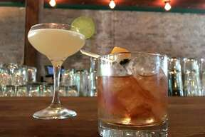 Tequila Honeysuckle and Old-fashioned cocktails from Lilly's Greenville