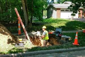 Consumers is currently working in areas north and south of Wheeler Street and east of Swede Avenue. (Ron Beacom/For the Daily News)
