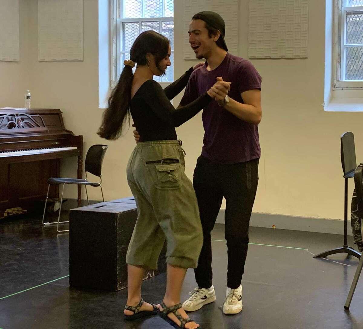 Jackeline Torres Cortes and Dario Ladani Sanchez rehearse at Yale Summer Cabaret recently.