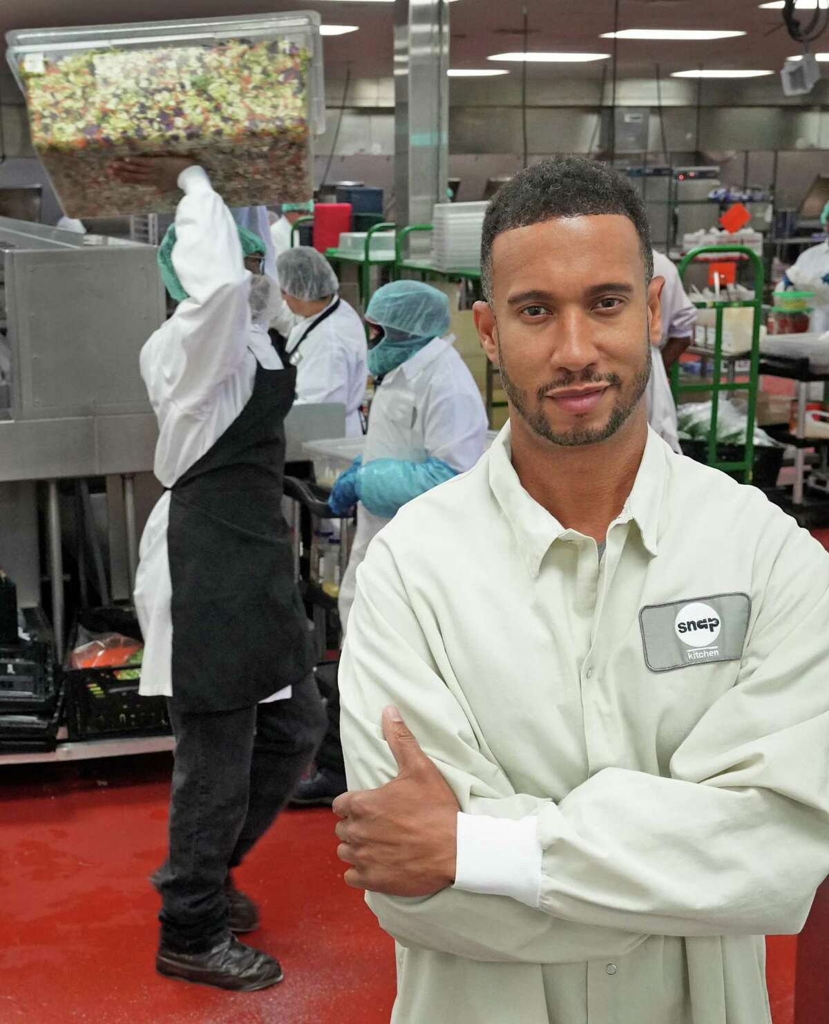 Snap Kitchen CEO Jon Carter is pictured at the Snap Kitchen commercial kitchen in Fort Worth, Texas on Tuesday, July 23, 2019. The Austin-based company recently announced plans to expand its home delivery of its prepared meals to 15 states nationwide.