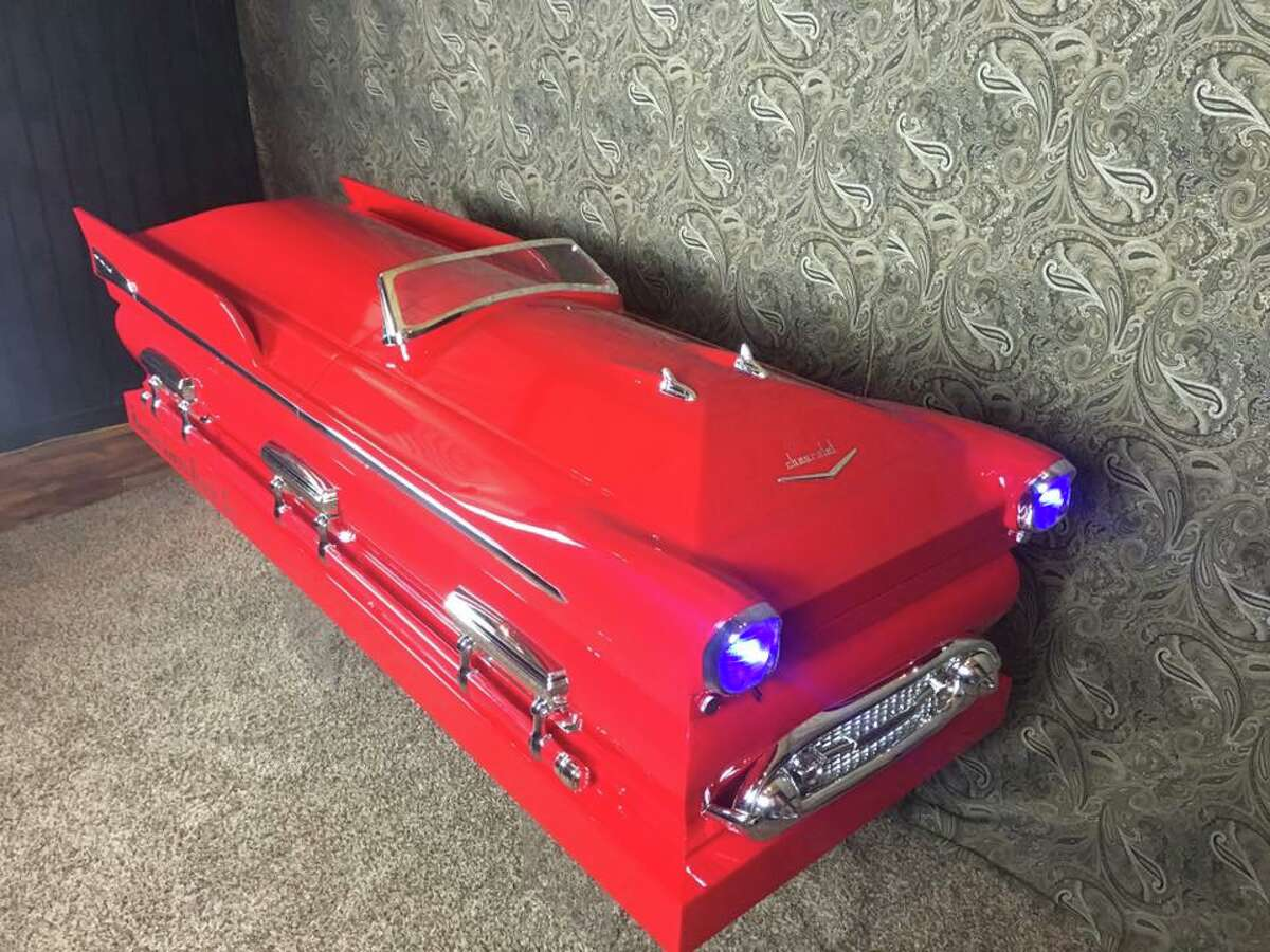 These humorous, creative and diverse custom-made caskets were created by Soulshine Industries Founder and Designer Trey Ganem.