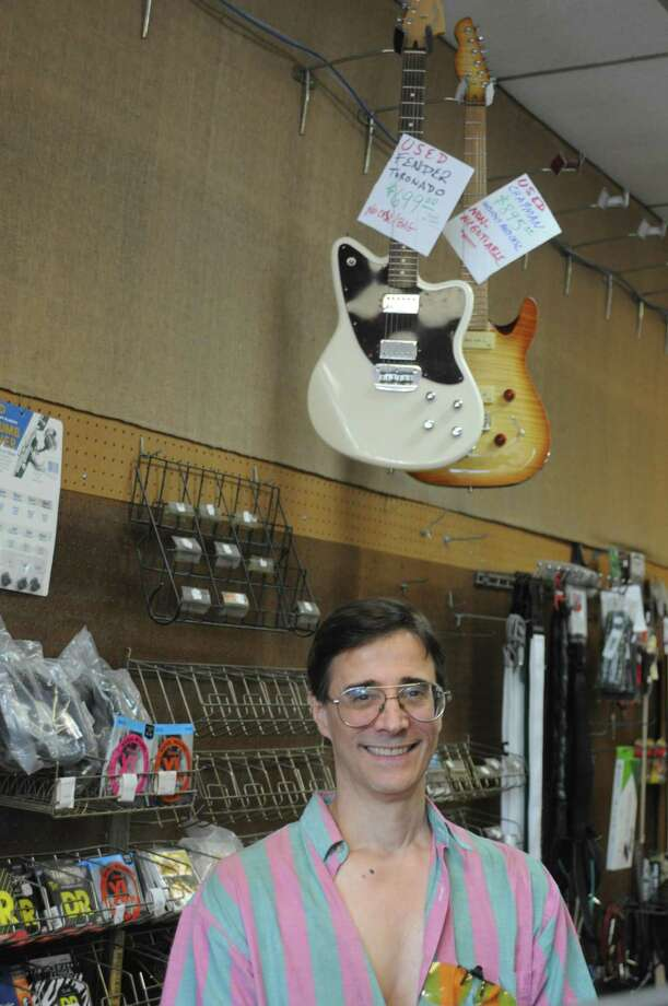Chris Pike has owned Ridgefield Music since 1994. He closed the Governor Street business, which dates back to 1970, on Wednesday, July 31. Photo: Macklin Reid / Hearst Connecticut Media