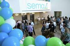 Sema4 held a groundbreaking ceremony for its under-construction lab at 62 Southfield Ave., in the Waterside section of Stamford, Conn., on Aug. 1, 2019.