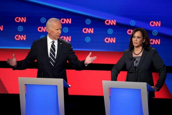 Fact Checking The Democratic Debate Attacks Against Kamala Harris Sfchronicle Com