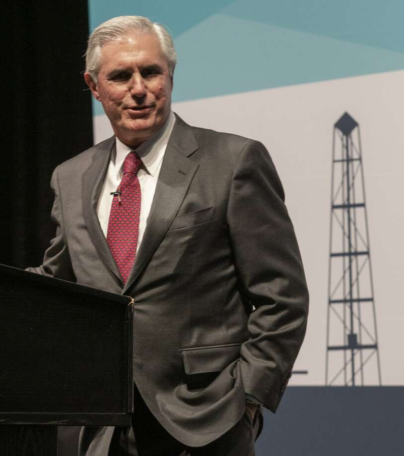 Tim Leach, Chairman and CEO, Concho Resources, speaks 01/30/19 at the Midland Chamber State of Oil & Gas luncheon. Tim Fischer/Reporter-Telegram Photo: Tim Fischer, Midland Reporter-Telegram