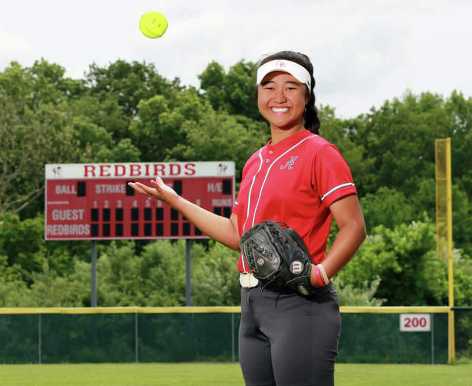 Alton's Tami Wong is the 2019 Telegraph Large-Schools Softball Player of the Year after putting up a school-record .625 batting average as a senior. Photo: Billy Hurst / For The Telegraph