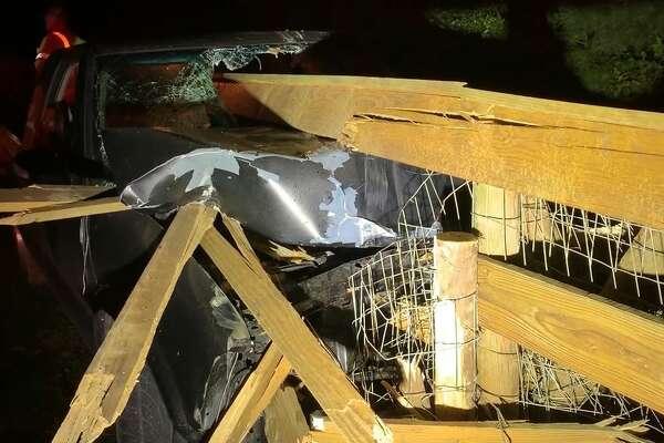 Police investigating bizarre crash in Conroe, driver missing