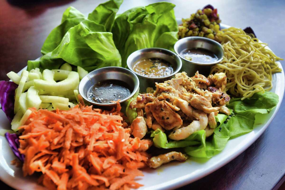 A view of the Thai lettuce wraps at Maggie McFly's inside Crossgates Mall on Monday, July 29, 2019, in Guilderland, N.Y. (Paul Buckowski/Times Union)