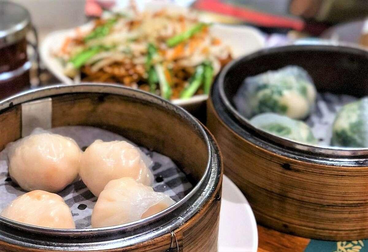 Prawn dumplings at Tim Ho Wan.