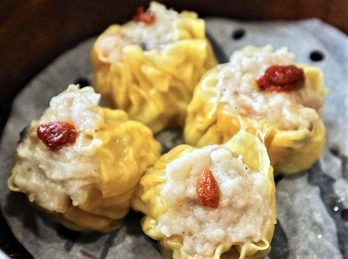 Steamed pork dumplings with shrimp at Tim Ho Wan.