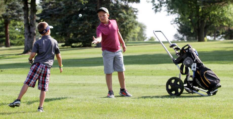 Young golfers took part in the Buckley Junior Golf Tournament this week at Rolling Hills Golf Course in Cass City. Photo: Eric Rutter/Huron Daily Tribune