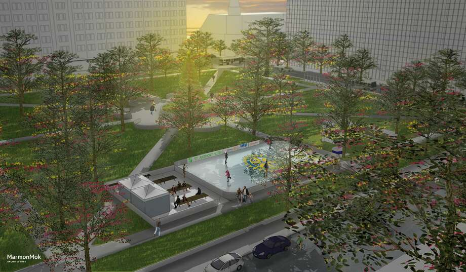 "Travis Park will transform into the ""Coolest Place in Town"" this winter when an outdoor ice skating rink sets up in downtown San Antonio. Photo: Rotary Club Of San Antonio"