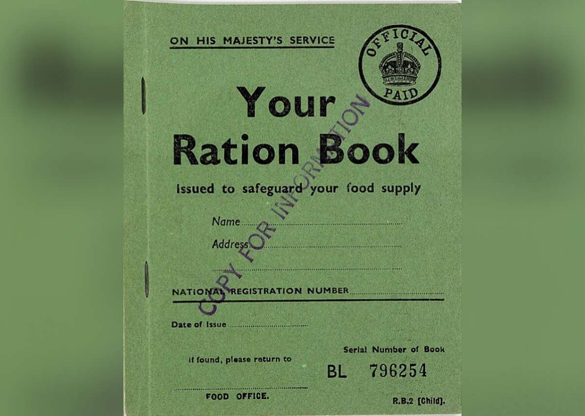 January 1940: Rationing in Great Britain In anticipation of Germany's likely attempt to cut Great Britain off from its overseas food and goods supply, Great Britain introduces rationing in January 1940. Each household receives a ration book that dictates how much they can buy. Before the war, Britain imported 55 million tons of food per month-a month after the war begins, the figure plummets to 12 million.