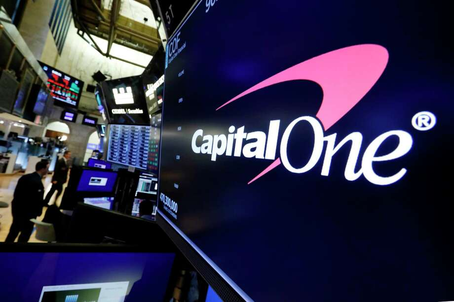 The logo for Capital One Financial appears above a trading post on the floor of the New York Stock Exchange. Data breaches through hacking attacks are common these days, and personal details about you can lead to identity theft, such as credit cards and loans in your name. Yet few victims can ever pin the blame on any specific breach, whether that's Equifax from 2017 or the recently disclosed breach at Capital One. Photo: Richard Drew / Associated Press / Copyright 2019 The Associated Press. All rights reserved