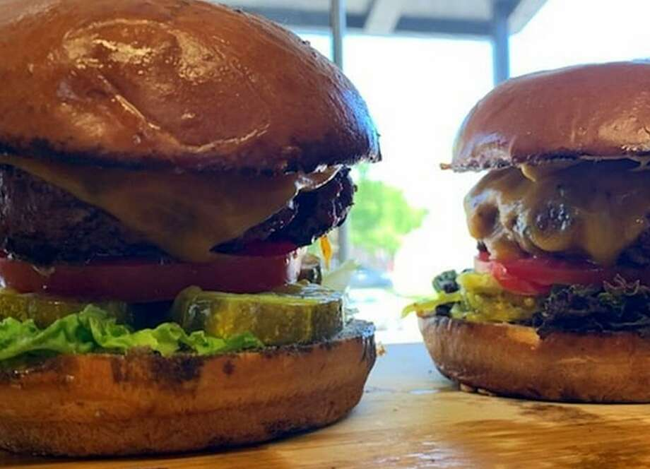 In addition to brisket, ribs and chiciken wings, they serve up burgers at The Hot Box. Photo: The Hot Box