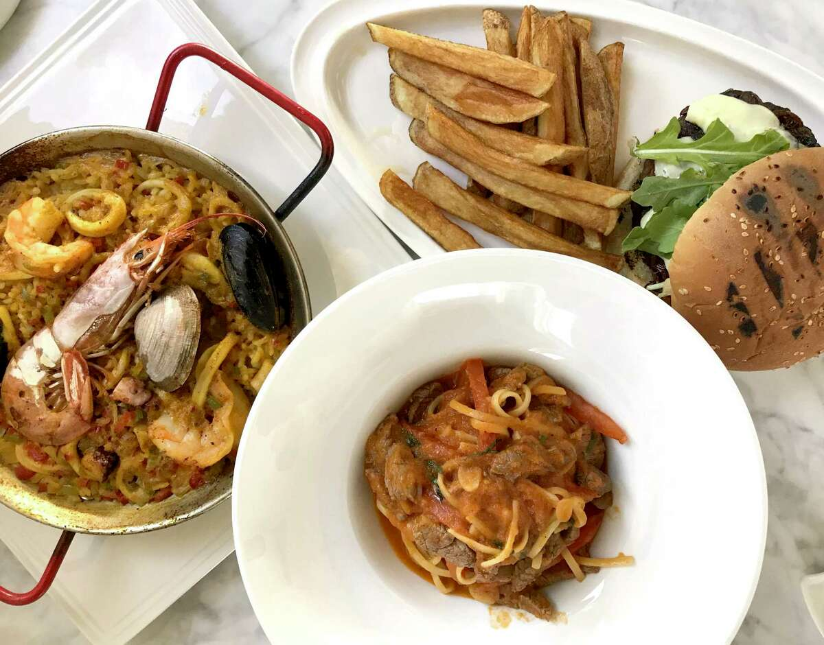 Paella, pasta and a burger from Savor Bistro