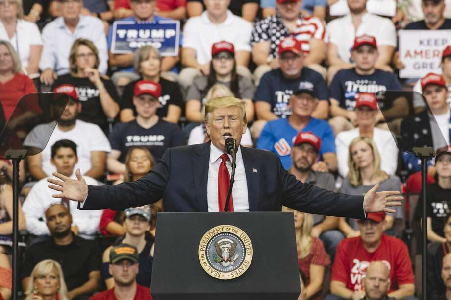 President Donald Trump speaks at a campaign rally at U.S. Bank Arena on August 1, 2019 in Cincinnati, Ohio. Photo: Andrew Spear/Getty Images