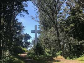 The cross and trails on Mt. Davidson, San Francisco.