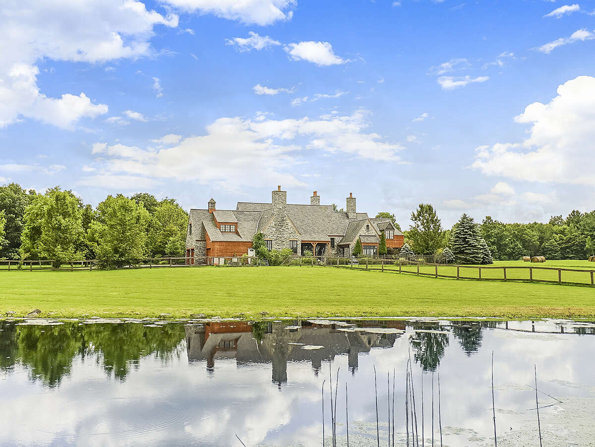 3. 667 Route 403, Greenville: Equestrian estate on 97 acres. Built in 1998. 4,500 square feet; Corinthian stone used in construction. Four bedrooms. Multiple barns consisting of 49 stalls, an indoor arena, half-mile exercise track, outdoor arena, soft dirt paddocks. (Photo provided by Coldwell Banker Village Green Realty)