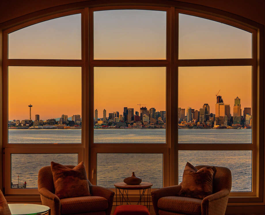 This huge waterfront condo on Alki Beach, yours for the reduced price of $3.295M Photo: Michael Walmsley Photography