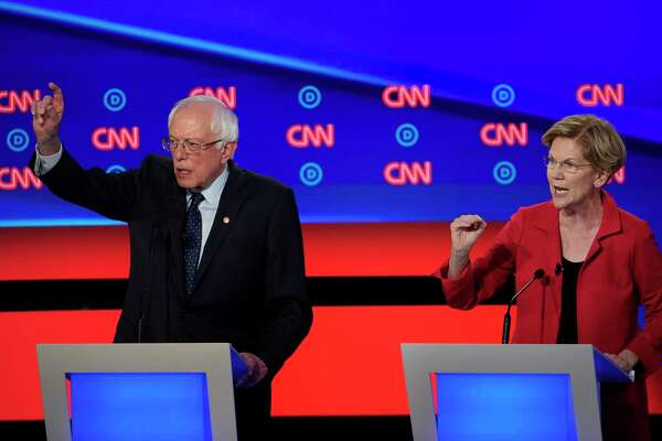 On the political left, Sens. Bernie Sanders of Vermont and Elizabeth Warren of Massachusetts command a combined 30 percent of the vote, which means the liberal duo are statistically tied with the center's Joe Biden.